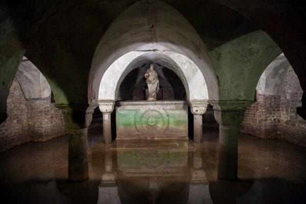 Cripta allagata nella chiesa di San Zaccaria a Venezia