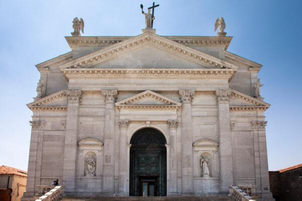 Facciata della chiesa del Redentore - la Giudecca