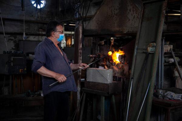 Fornace di una vetreria