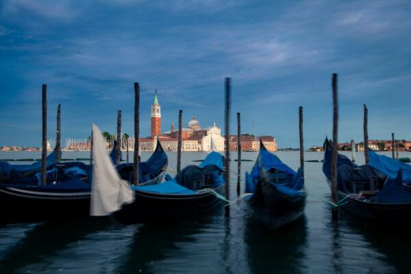 Gondole in piazza San Marco