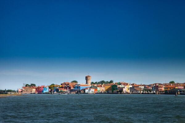 Isola di Burano vista dal Mare