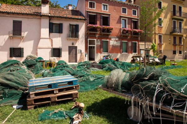 Le reti dei Pescatori alla Giudecca di Venezia