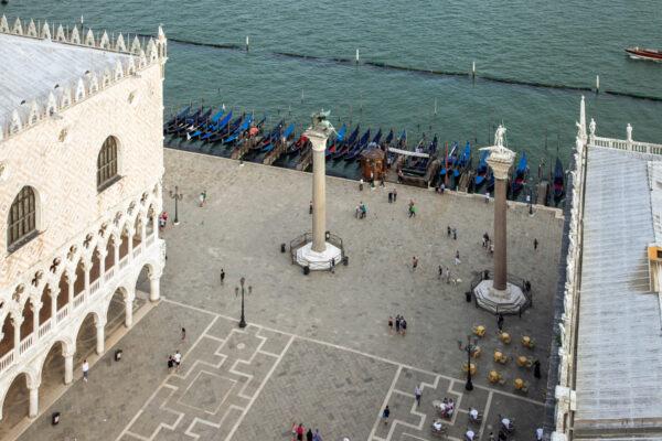 Piazzetta San Marco e colonne in granito