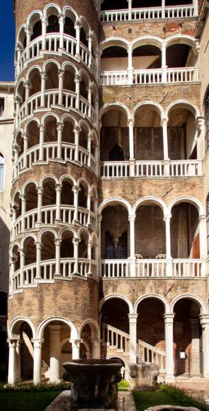 Scala Contarini del Bovolo - Scala a chioccola nel Sestiere San Marco