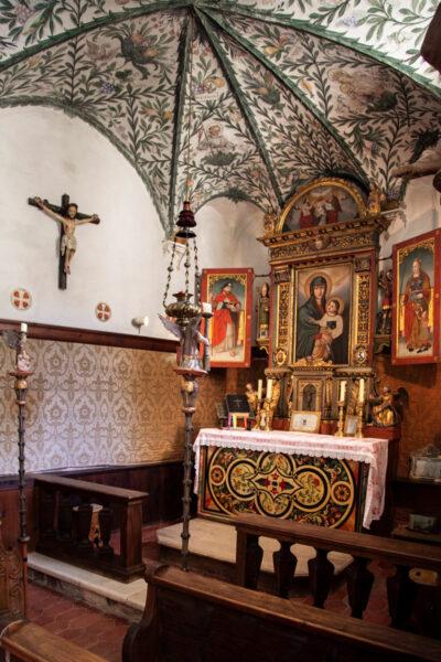 Altare della cappella di San Giacomo a Castel Coira