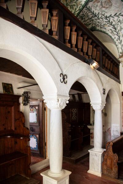Archi e accesso alla sacrestia della cappella di San Giacomo