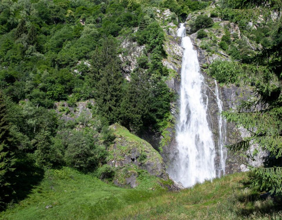 Cascata di Parcines in val di Tel - Alto Adige