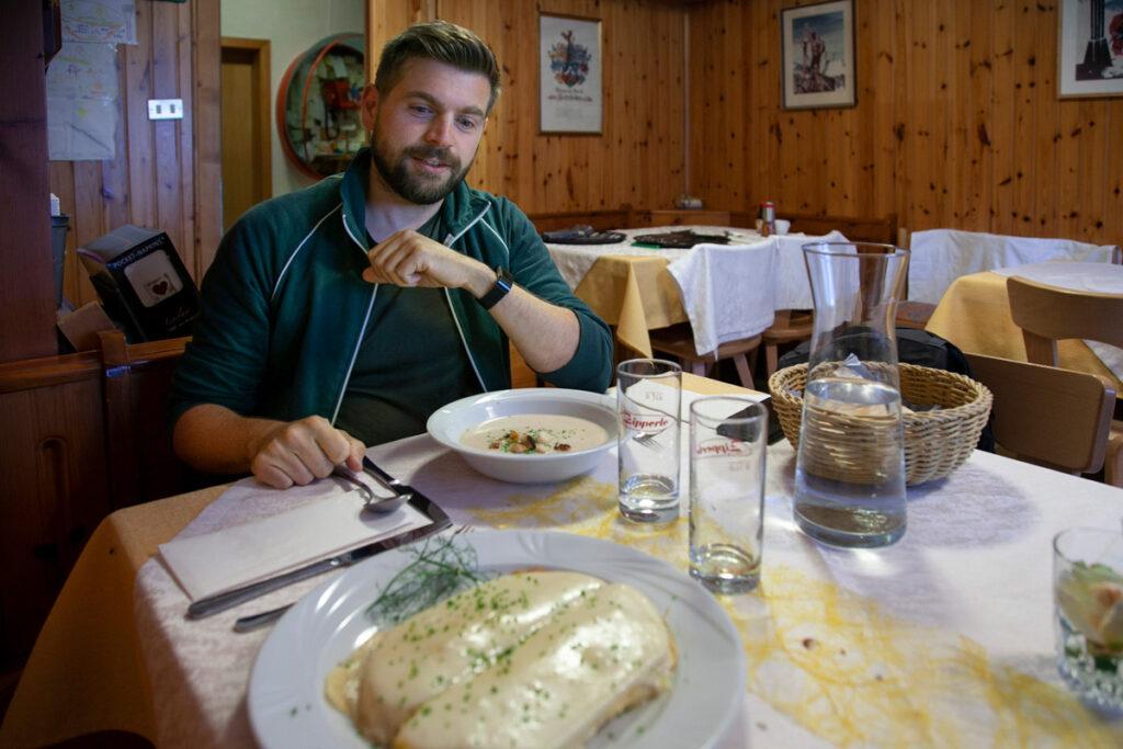Cena al ristorante Gletscherblick - sopra al lago di Resia in Vallelunga