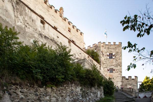 Ingresso al castello di Sluderno in Val Venosta