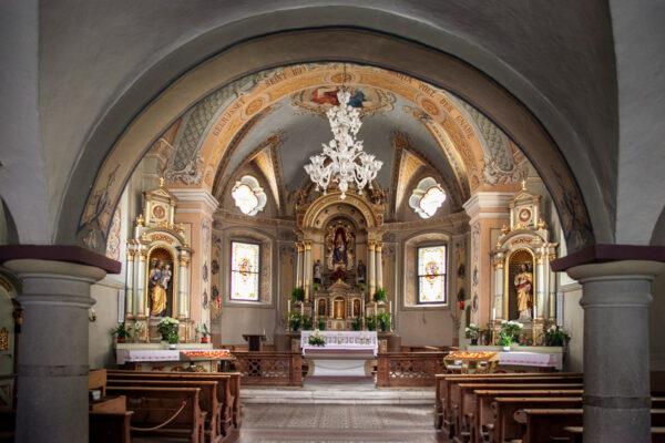 Interni della chiesa di Nostra Signora