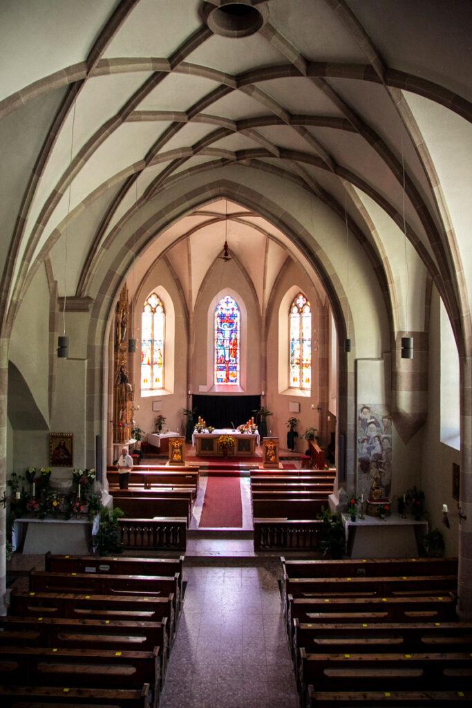 Interni della chiesa di San Pancrazio a Glorenza