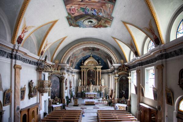 Navata interna della chiesa di Santa Maria Assunta - Chiesa parrocchiale di Malles Venosta