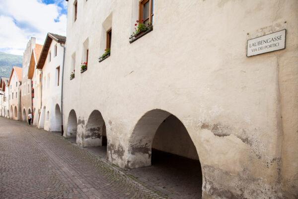Via dei Portici di Glorenza - Sede antico mercato