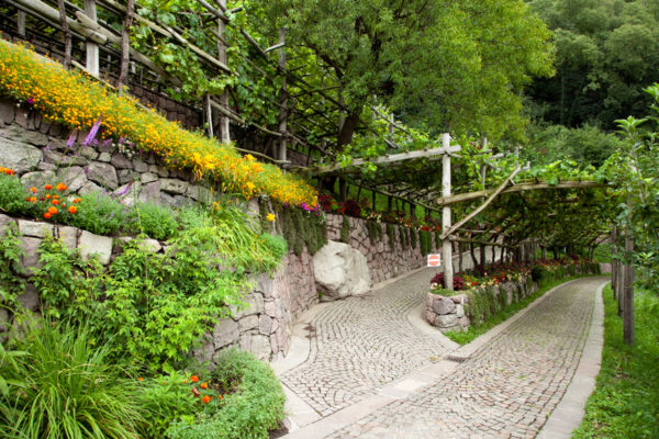 Accesso al Tabernaculum nei Paesaggi dell'Alto Adige - Giardini Botanici di Castel Trauttmansdorff
