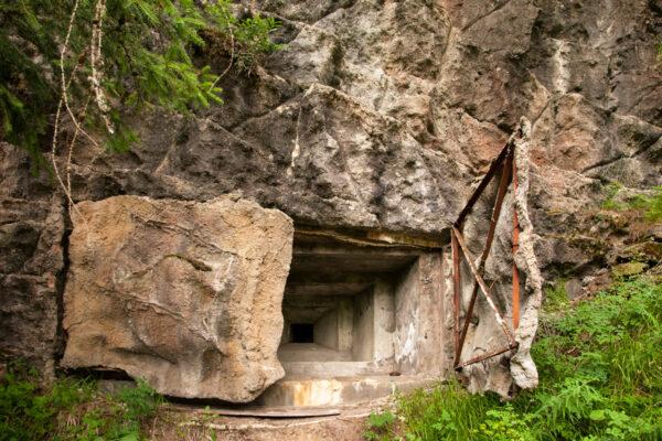 Bunker vicino alla sorgente del fiume Adige