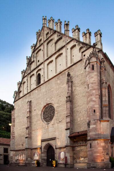 Facciata del duomo di Merano - Chiesa di San Nicolò