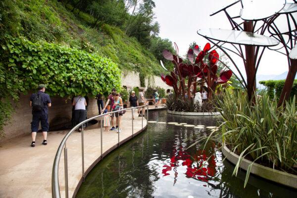 Giardino degli innamorati nei giardini botanici di Castel Trauttmansdorff