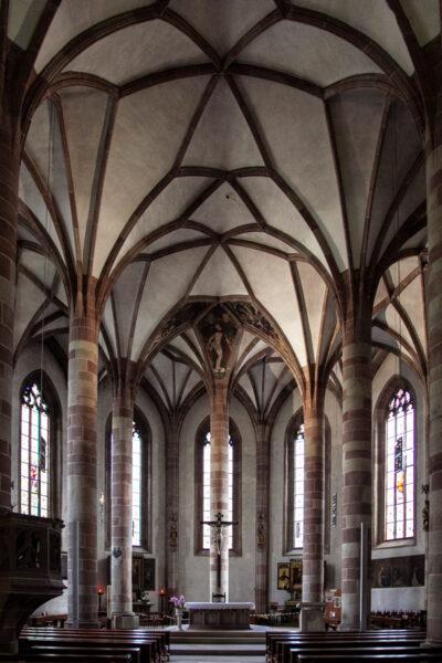 Interni della chiesa del Santo Spirito di Merano