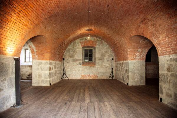 Interni di una polveriera del Forte di Fortezza