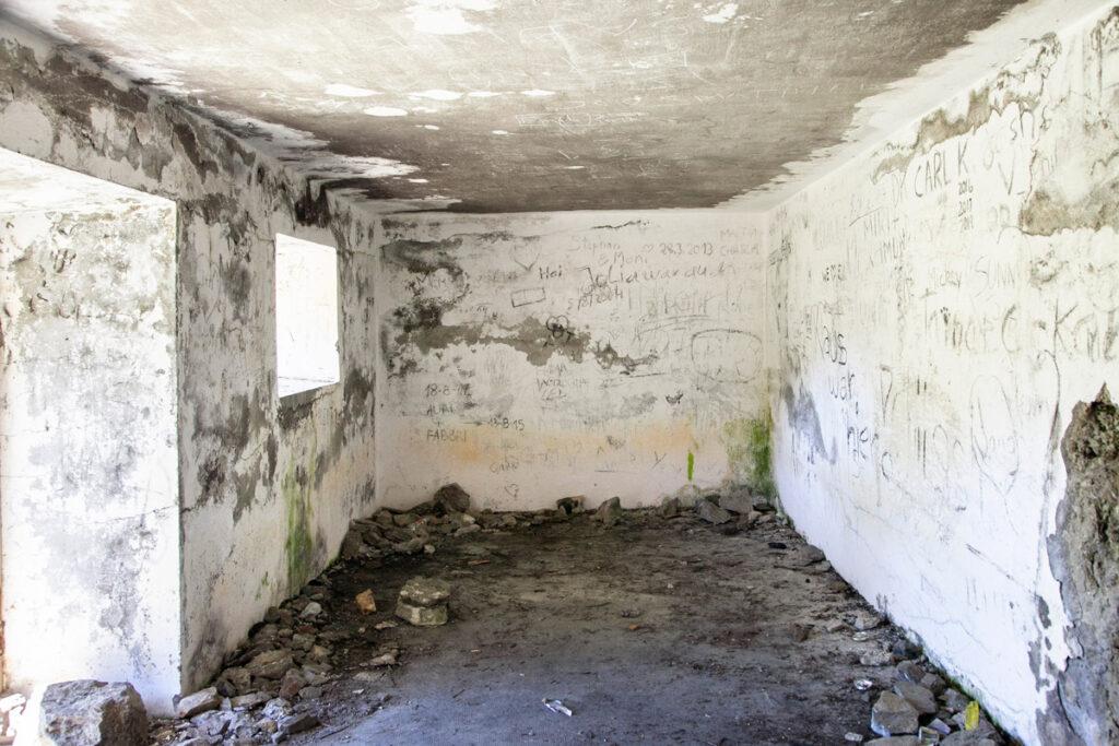 Interni di uno dei bunker sullo sbarramento di Resia