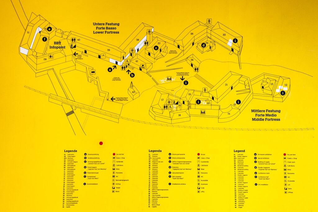 Mappa del Forte di Fortezza