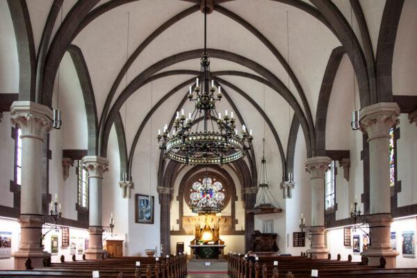 Navate interna della chiesa evangelica di Merano