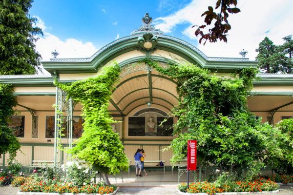 Palazzo liberty Wandelhalle per eventi durante inverno