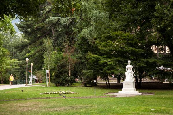 Parco Elisabetta ad inizio della passeggiata d'estate