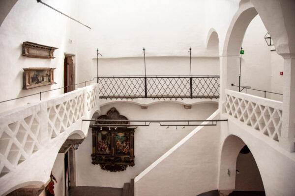 Primo piano del palazzo comunale di Vipiteno - Interni