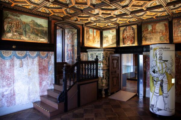Stanza degli affreschi di Castel Trauttmansdorff - Con affreschi del cinquecento