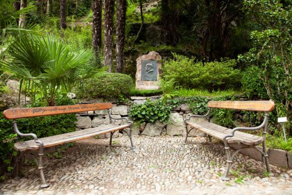 Via della Poesia sulla Passeggiata Gilf di Merano