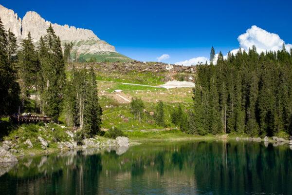 Danni della Tempesta Vaia sul lago di Carezza - Alberi abbattuti