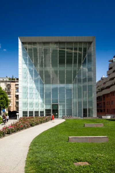 Facciata della Fondazione Museion - Palazzo in vetro