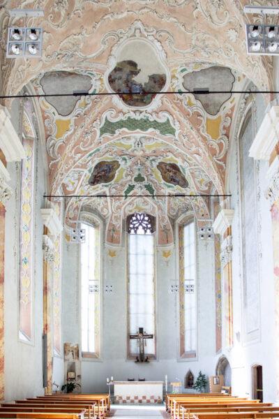 Navata barocca della chiesa dei Domenicani di Bolzano