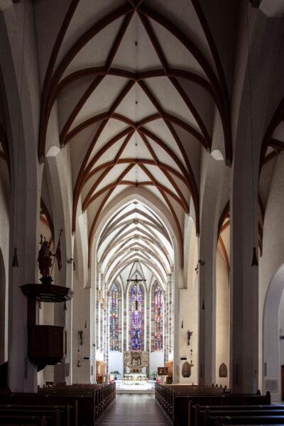Navata interna della chiesa del convento dei Francescani