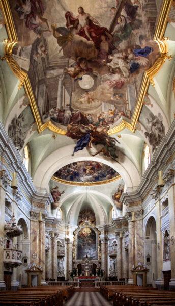 Navata interna della chiesa di Sant'Agostino - Bolzano