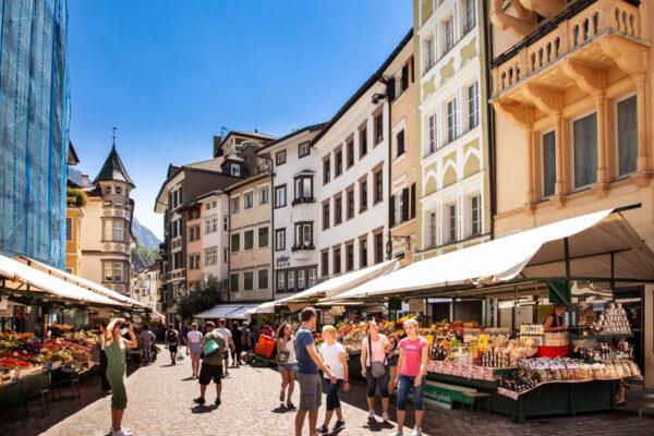 Piazza delle Erbe di Bolzano