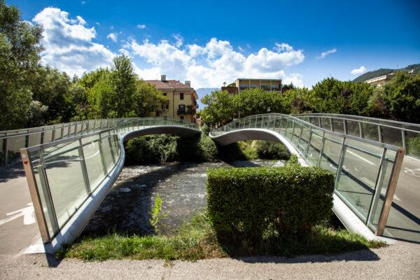 Ponti curvi sul torrente Talvera - Fondazione Museion