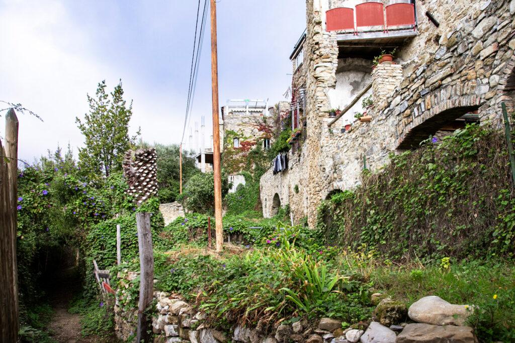 Vecchia mulattiera di Bussana Vecchia - Sentiero e case