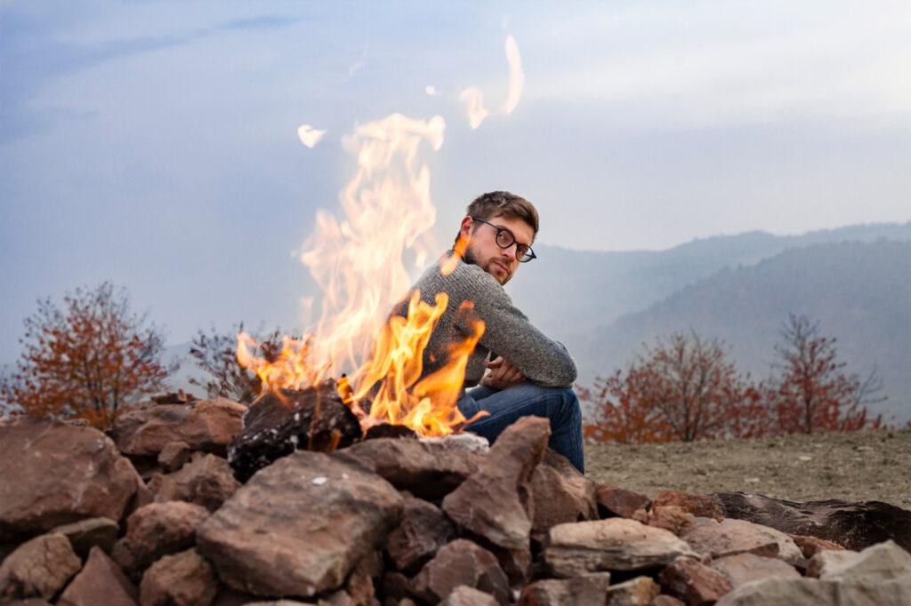 Stefano al vulcano del Monte Busca