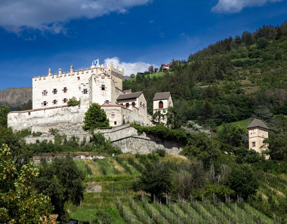 Castel Coira tra la vegetazione